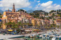 View of Menton, France. Royalty Free Stock Photo