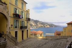 View of Menton, French Riviera, France Royalty Free Stock Photos