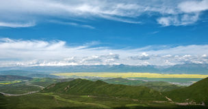 View of Menyuan ,Qinghai Royalty Free Stock Image