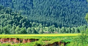 The view of Menyuan,Qinghai Province Stock Photo