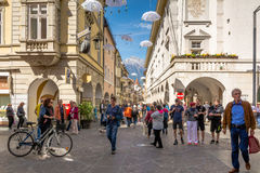 View of Merano's main street, Bolzano, South Tyrol, Italy Stock Images