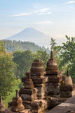 View on Merapi volcano from Borobudur temple Stock Photography