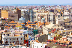 View on Mercado Central from the tower in Valencia, Spain. Royalty Free Stock Photo