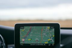View on Mercedes Navigation 3d royalty free stock photos