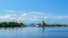 View of the merchants harbor in Kronstadt Royalty Free Stock Photography