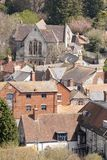 View of Mere,Wiltshire from castle hill Stock Photos