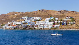 View of Merichas, Kythnos island, Cyclades, Greece Stock Photos