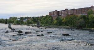 View of Merrimack River Manchester, New Hampshire 4K. A View of Merrimack River Manchester, New Hampshire 4K stock video