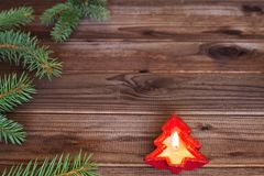 Merry Christmas / holidays decorative and place for a text Royalty Free Stock Photo