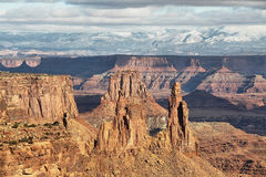View from Mesa Arch in Canyonlands National Park Royalty Free Stock Photos