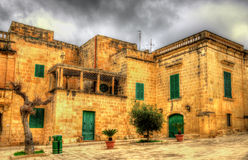 View of Mesquita Square in Mdina Stock Photos