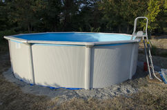 Metal steel frame pool stock image