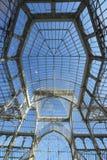 Palacio de Cristal. View of the metal structure of Palacio de Cristal, Parque del Buen Retiro, Madrid, Spain Stock Photos