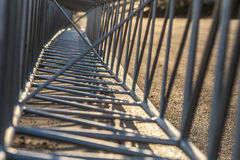 View through the metal structures. Royalty Free Stock Images