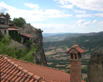 View from Meteora monastery. Greece royalty free stock image