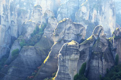 View on the Meteora mountains Stock Photos