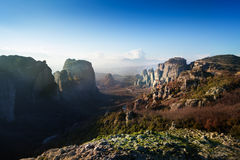 The view of Meteora valley, Greece Stock Photography