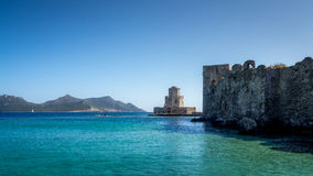 View of Methoni Castle Stock Photography