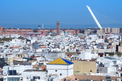 View from Metropol Parasol on Seville Stock Photos