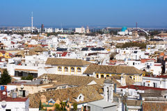 View from Metropol Parasol on Seville Royalty Free Stock Photography