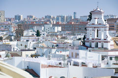 View from Metropol Parasol on Seville Royalty Free Stock Photos