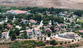 View of Metula,Israel. View of Metula, The northernmost point Jewish village of Israel Stock Photos