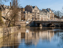 View of Metz town over Moselle river - Lorraine, France Stock Photos