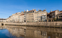 View of Metz town over Moselle river - Lorraine, France Royalty Free Stock Images