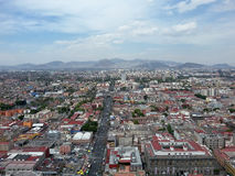View of Mexico City. Aztec temple in Mexico City  in a sunny afternoon with close to tropics in Central America in Stock Photos