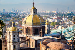 View of Mexico City from the Hill of Tepeyac including the Basilica of Guadalupe Royalty Free Stock Image