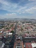 View of Mexico City in spring. Aztec temple in Mexico City  in a sunny afternoon with close to tropics in Central America in Stock Photo