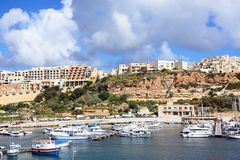 View of Mgarr harbour, Gozo. Stock Image