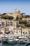 View of Mgarr port. On Gozo island Malta Stock Images