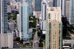 View Among Miami Apartment Towers Royalty Free Stock Photo