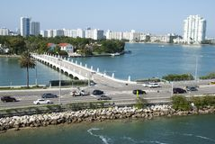 Miami MacArthur Causeway Royalty Free Stock Photography