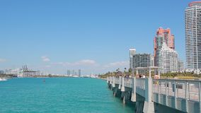 View of Miami stock video footage