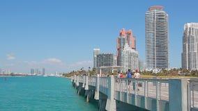 View of Miami stock video