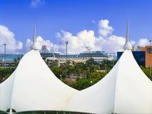 View of Miami Royal Caribbean cruise terminal Royalty Free Stock Photography