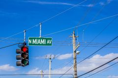 Miami sign and traffic light network