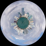 View of Miami Skyline as Little Planet Stock Photos