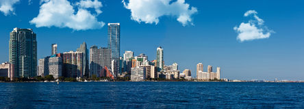 View of the Miami skyline Royalty Free Stock Images