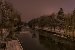 A view from the Michelangelo bridge. Night scene Royalty Free Stock Images