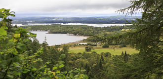 View Middle Lake from the top of Torc Mountain. Royalty Free Stock Image