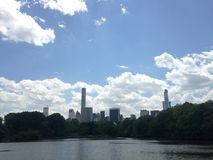 View of Midtown Manhattan from Central Park. Royalty Free Stock Photography