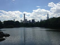 View of Midtown Manhattan from Central Park. Stock Photography
