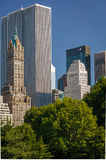 View of Midtown, Manhattan, South East Central Par. Summer afternoon view of the South East corner of Central Park and 5th Avenue, Manhattan, New York City Royalty Free Stock Image