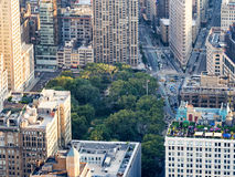 View of midtown New York with Madison Square and the Flatiron Stock Photos