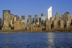 View of midtown New York from Queens and the East River, NY Stock Photos