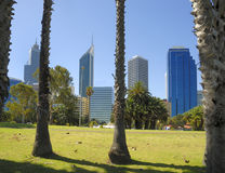 View at midtown Perth. The financial district Stock Photos