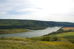 View of the mighty Peace River, northeastern BC Royalty Free Stock Photos
